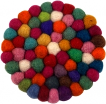 Felt coaster, round - coloured Ø 10 cm