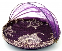 Fly protection fruit basket in 3 sizes - purple/painted
