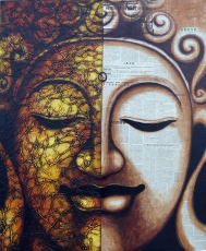 Painting on canvas Buddha 120*100 cm