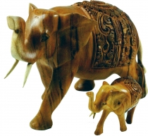 Carved decoration elephant in 2 sizes