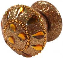 Glitter furniture knob golden yellow