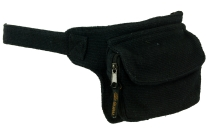 Belt bag, Festival belly bag - black