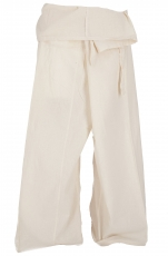 Thai fisherman pants in cotton, wrap pants, yoga pants - M/L off-..
