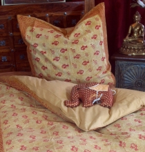 Hand printed block print cotton bed linen