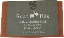 Handmade goat milk soap, 100 g Fair Trade - Red Jasmine Rice