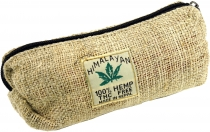 Hemp pencil case, ethno pencil case - nature