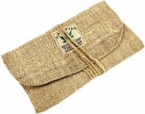 Hemp tobacco pouch, tobacco bag, swivel bag - natural