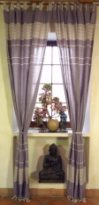 Boho curtains, curtain (1 pair ) with loops, ethno style curtain ..