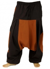 harem pants, harem pants, bloomers, aladdin pants - coffee