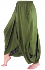 Hippie skirt Aladdin divided skirt - olive