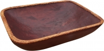 Wooden Basket Bowl square