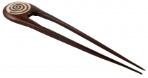 wooden hair clip, hairpin no. 20