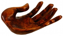 Wooden bowl, hand shaped fruit bowl