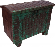 Indian wedding chest, wheel chest - Model 2