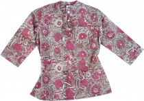 indian girl tunic, children tunic - fucsia/grey