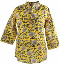Indian girls tunic, children`s tunic - yellow