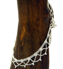 Indian anklet, oriental white metal anklet - Model 10