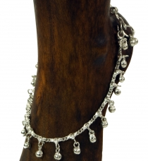 Indian anklet, oriental white metal anklet - Model 4