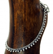 Indian anklet, oriental white metal anklet - Model 2