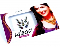 Indian forehead Bindi, body sticker set - colorful