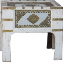 Oriental side table with brass decoration - Model 3