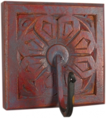Indian vintage wall hook ornament - colorful