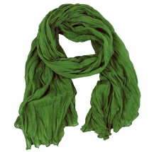 Indian cotton scarf, scarf, crinkle scarf - green