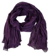 Indian cotton scarf, scarf, crinkle scarf - purple