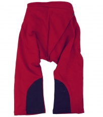 Children`s harem pants, bloomers - red/brown