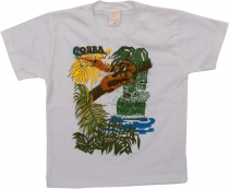 Kids T-Shirt Hippie Goa with `snake