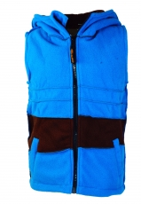 Children waistcoat with pointed hood - turquoise