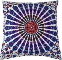 Cushion cover mandala, printed folklore cushion - blue
