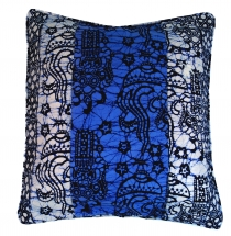 cushion cover wax batik - blue