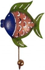 Small coat hook, metal Coat hook - fish 1