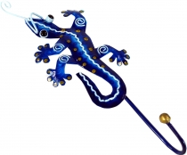 Small coat hook, metal Coat hook - Gecko blue