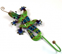 Small coat hook, metal Coat hook - Gecko green
