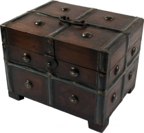 small treasure chest, wooden box, jewellery box in 2 sizes - mode..