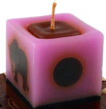 Small Vintage Cube Candle No.8