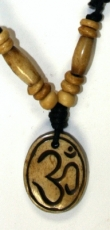 Ethno amulet, Tibet necklace, Tibet jewellery - Om oval