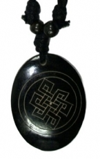 Ethno amulet, Tibet necklace, Tibet jewellery - Endless knot