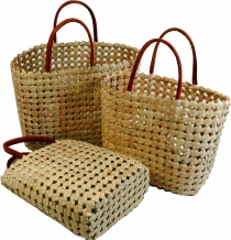 Basket bag in three sizes - natural