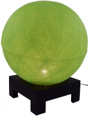 Ball table lamp with MDF cotton thread stand - light green