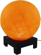 Ball table lamp with MDF cotton thread stand - orange