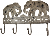Indian vintage metal wall hook elephant in 4 colours
