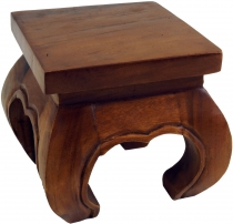 Mini opium table, solid wood flower bench - brown 20*20 cm