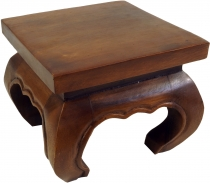 Mini opium table, solid wood flower bench - brown 25*25 cm