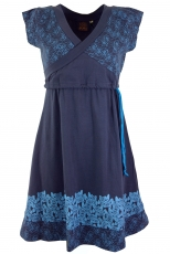 Mini Dress, Boho Dress Rose Organic - blue