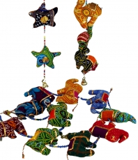 Mobile soft toy chain from India - elephant/star/camel