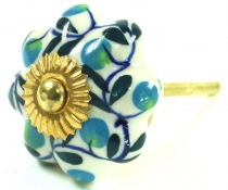 Furniture Knob Rose Ceramic -