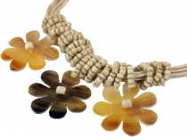 Exotic Boho necklace, shell + pearls necklace - Model 2